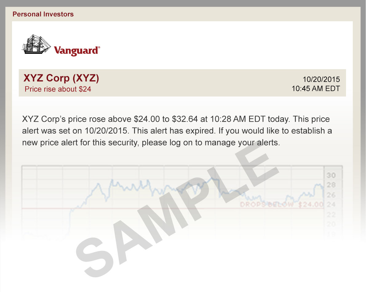 see a sample email stock alert vanguard