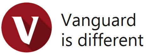 Large round V logo with Vanguard is different title